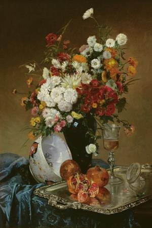 Still Life with Flowers and Pomegranates