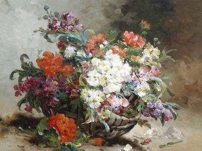 Summer Flowers Arranged in a Basket