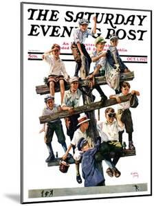 """""""Baseball Fans,"""" Saturday Evening Post Cover, October 1, 1927 by Eugene Iverd"""