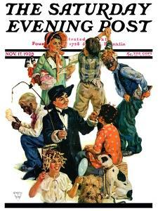 """Costumes for Play,"" Saturday Evening Post Cover, November 17, 1928 by Eugene Iverd"