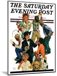 """""""Costumes for Play,"""" Saturday Evening Post Cover, November 17, 1928 by Eugene Iverd"""