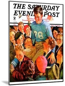 """Football Hero,"" Saturday Evening Post Cover, November 17, 1934 by Eugene Iverd"