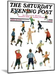 """""""Home Run,"""" Saturday Evening Post Cover, April 26, 1930 by Eugene Iverd"""
