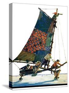 """Iceboat,""February 4, 1928 by Eugene Iverd"