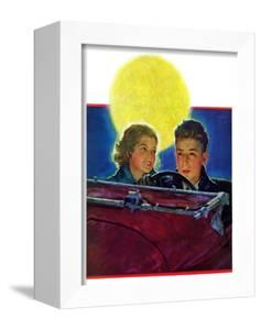 """Moonlit Car Ride,""January 7, 1933 by Eugene Iverd"