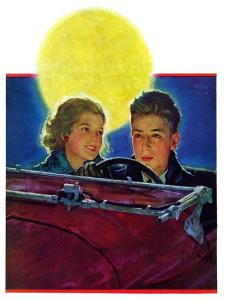 """Moonlit Car Ride,""January 7, 1933 by Eugene Iverd"