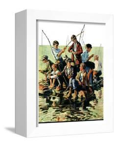 """Raft Fishing,""July 30, 1927 by Eugene Iverd"