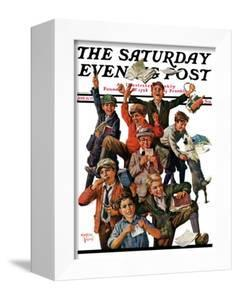 """""""School's Out,"""" Saturday Evening Post Cover, June 25, 1927 by Eugene Iverd"""