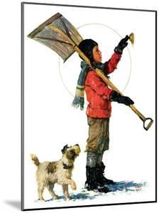 """""""Snow Shoveler,""""January 3, 1931 by Eugene Iverd"""