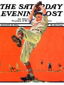 """The Windup,"" Saturday Evening Post Cover, August 18, 1934 by Eugene Iverd"