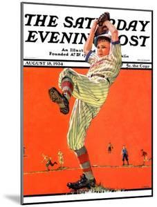 """""""The Windup,"""" Saturday Evening Post Cover, August 18, 1934 by Eugene Iverd"""