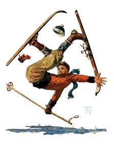 """Wipeout on Skis,""March 3, 1928 by Eugene Iverd"