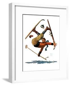 """""""Wipeout on Skis,""""March 3, 1928 by Eugene Iverd"""