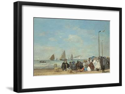 Beach Scene at Trouville, 1863