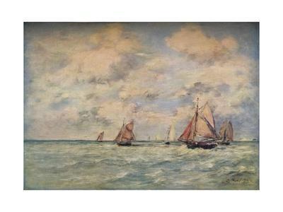 'Sortie Des Barques A Trouville', 19th century