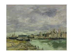 Trouville Harbor by Eugene Louis Boudin