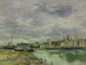 Trouville Harbor by Eugene Louis Boudin