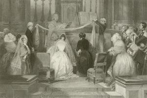 A French Marriage at St Roch by Eugene-Louis Lami
