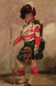 A Soldier of the 79th Highlanders at Chobham Camp in 1853 by Eugene Louis Lami