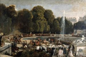 Entry of the Duchess of Orleans in the Garden of Tuileries, 1841 by Eugene Louis Lami