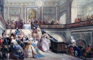Fete at the Chateau De Versailles on the Occasion of the Marriage of the Dauphin in 1745 by Eugene-Louis Lami
