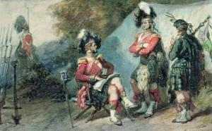 Officers of the 79th Highlanders at Chobham Camp in 1853 by Eugene-Louis Lami
