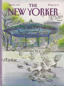 The New Yorker Cover - April 6, 1987 by Eugène Mihaesco