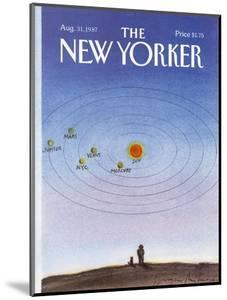 The New Yorker Cover - August 31, 1987 by Eugène Mihaesco