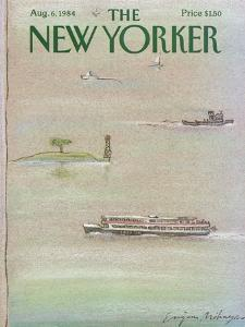 The New Yorker Cover - August 6, 1984 by Eugène Mihaesco