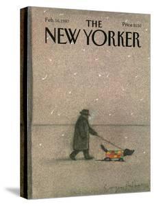 The New Yorker Cover - February 16, 1987 by Eugène Mihaesco