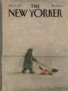 The New Yorker Cover - February 16, 1987 by Eugène Mihaesco