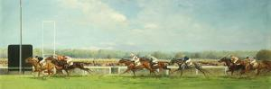 Le Grand Prix de Paris at Longchamp, 1933 by Eugene Pechaubes