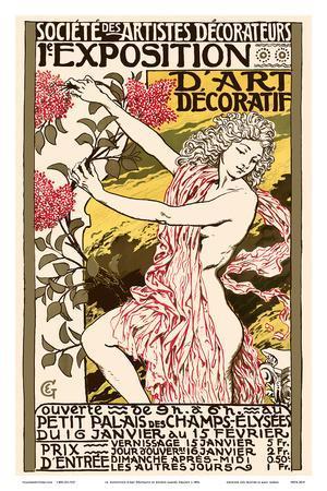 Exposition d'Art Décoratif -Art Nouvelle Poster at the Petit Palais des Champs-Elysees