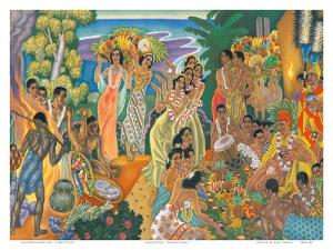 Island Feast, Traditional Hawaiian Celebration by Eugene Savage