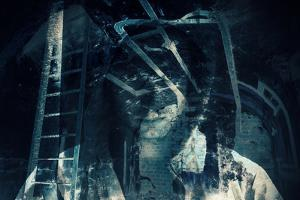 Abstract Horror Background, Dark Room with Ghost by Eugene Sergeev