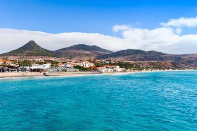 Coastal Landscape of Porto Santo Island in Madeira Archipelago, Portugal