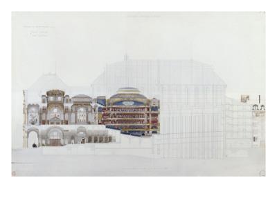 Académie impériale de musique, projet d'opéra, coupe longitudinale