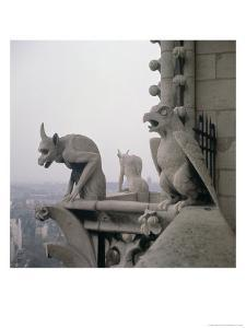 Gargoyles on the Balustrade of the Grande Galerie, Replica of a 12th Century Original by Eugène Viollet-le-Duc