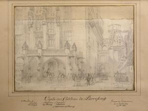 Napoléon III et François Joseph visitant le château de Pierrefonds by Eugène Viollet-le-Duc
