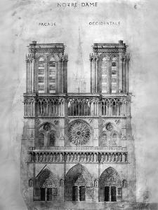 Paris: Notre Dame, 1848 by Eugène Viollet-le-Duc