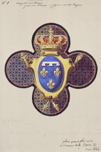 Project for the Windows of the Royal Chapel of Dreux by Eugène Viollet-le-Duc