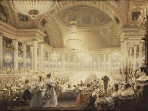 Souper des Dames dans la salle de spectacles des Tuileries en 1835 by Eugène Viollet-le-Duc