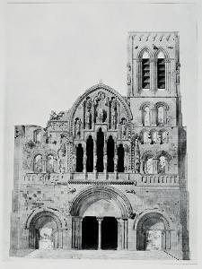 The Facade of La Madeleine De Vezelay by Eugène Viollet-le-Duc