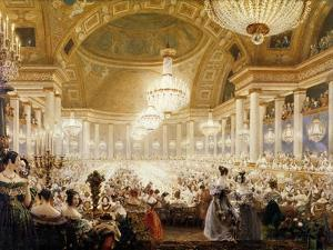 Women Dining at the Tuileries in 1835 by Eugène Viollet-le-Duc