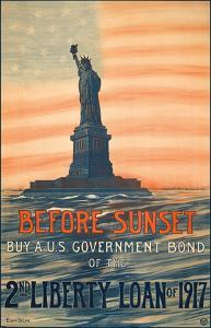 Before Sunset - Buy A U.S. Government Bond of the 2nd Liberty Loan of 1917 by Eugenie De Land