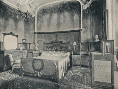 'Bedroom with Furniture in Walnut and Citron Wood', 1915