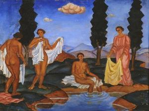 Bathers, 1910 by Eugeniusz Zak