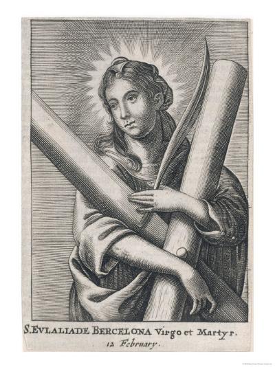 Eulalia (Saint) of Barcelona Spanish Martyr (Under Diocletian), Patron Saint of Sailors--Giclee Print