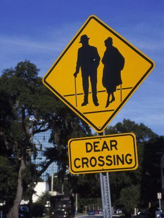 Dear Crossing' Sign, Mature Adults, Orlando, FL