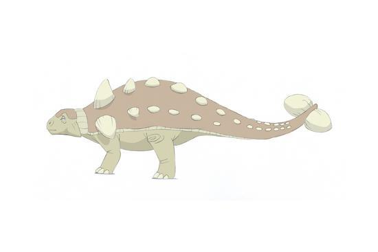 Euoplocephalus Pencil Drawing with Digital Color-Stocktrek Images-Art Print